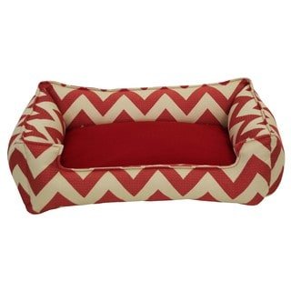 Jagged Red Chill Pet Bed