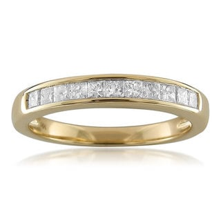 14k Yellow Gold 1/2ct TDW Princess-cut Diamond Channel Wedding Band (H-I, I1)