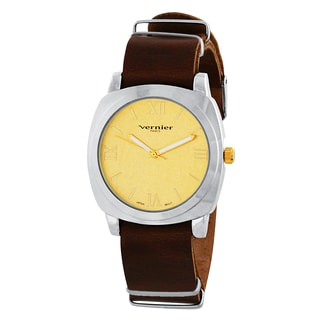 Vernier Paris Women's Genuine Leather Campus Sleeve Watch