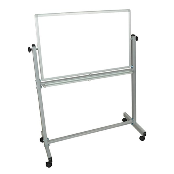 Offex Mobile White Double Sided Magnetic Whiteboard Easel