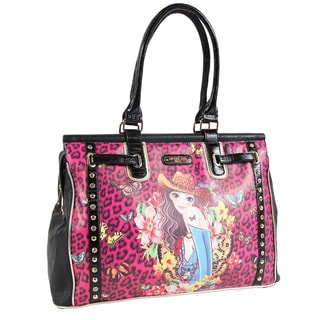 Nicole Lee Sandra Pink Print Carry-on Overnight Tote Bag