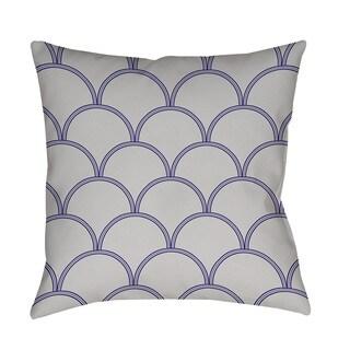 Thumbprintz Art Deco Circles Grey and Navy Indoor/ Outdoor Pillow