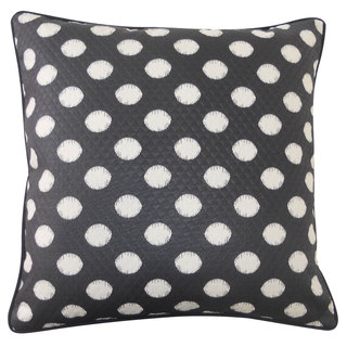 Spot Black Throw Pillow