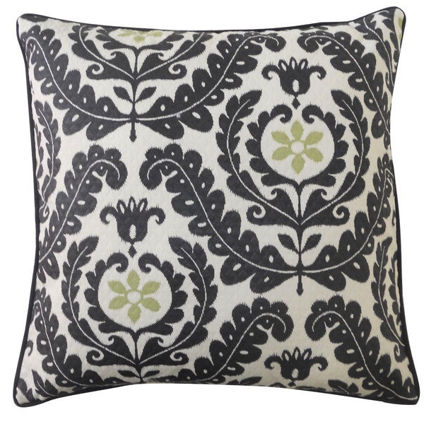 Shine Black Throw Pillow