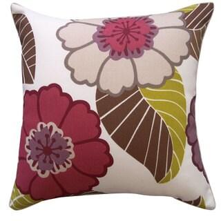 Dahlia Berry Throw Pillow