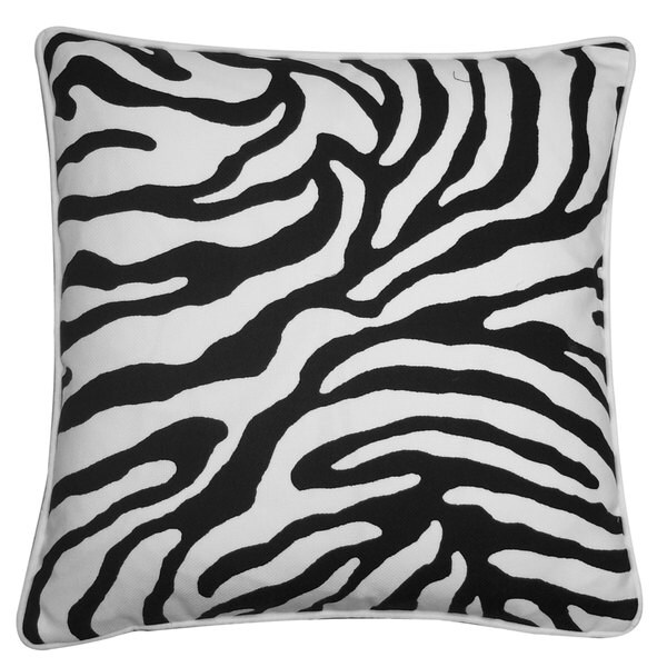 Desert Black Throw Pillow