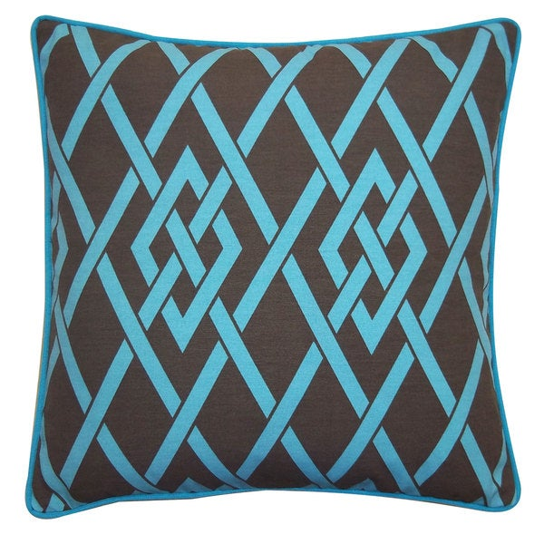 Point Brown Throw Pillow