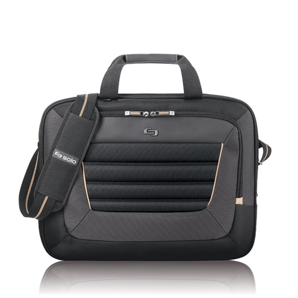 Solo Pro 15.6-inch Laptop Briefcase with Tablet Compartment