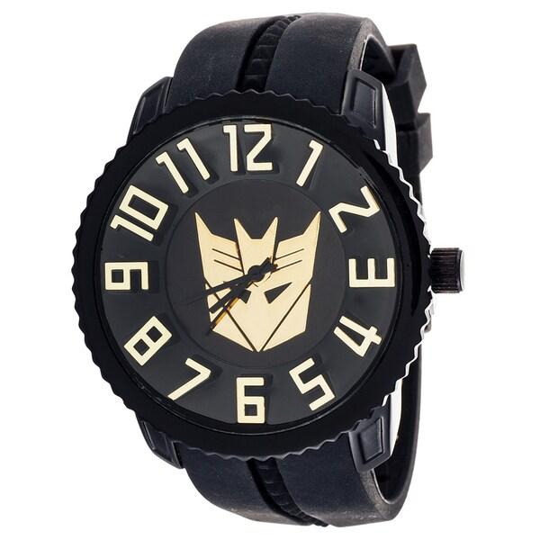 Transformers Decepticon Sporty Jumbo Black 3D Watch