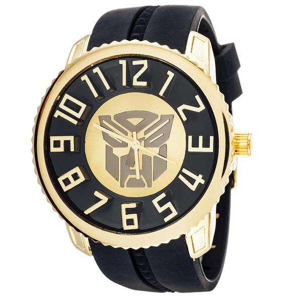 Transformers Autobot Sporty Jumbo Goldtone 3D Watch