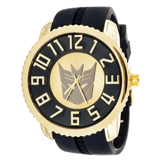 Transformers Decepticon Sporty Fashion Jumbo Goldtone Watch