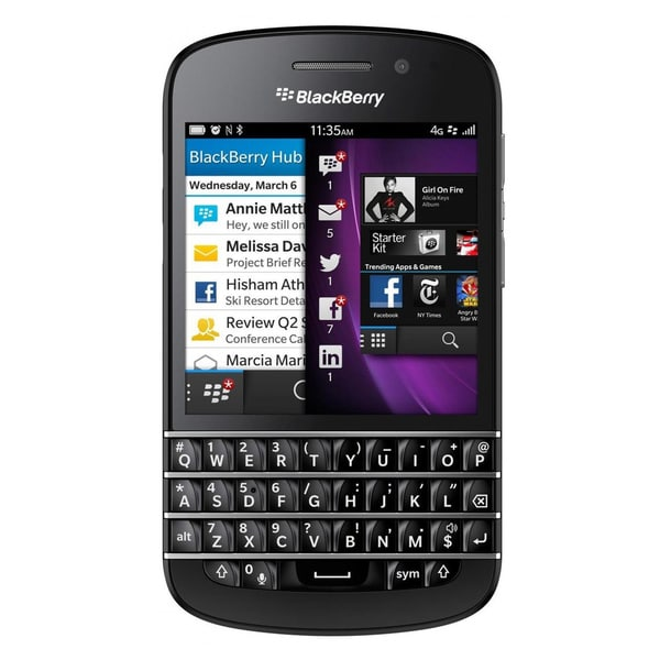Blackberry Q10 Unlocked GSM OS 10 Black Cell Phone (Refurbished)