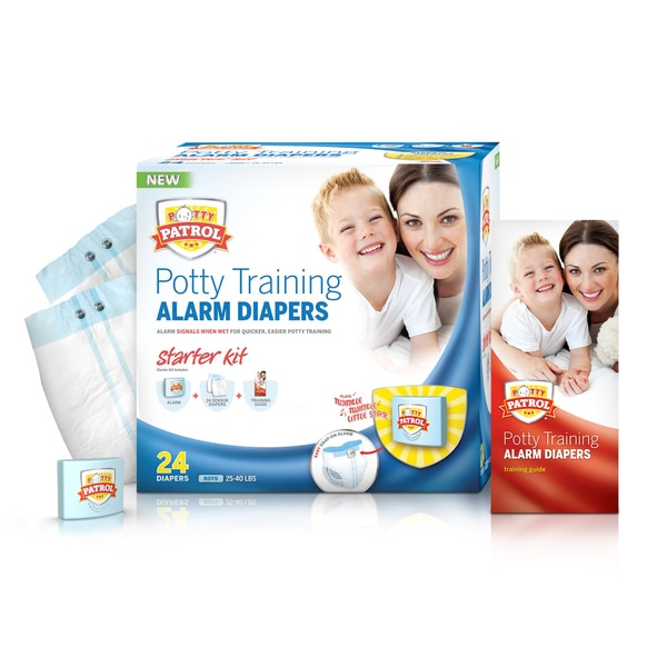 Potty Patrol Boys' Alarm Diapers Starter Kit