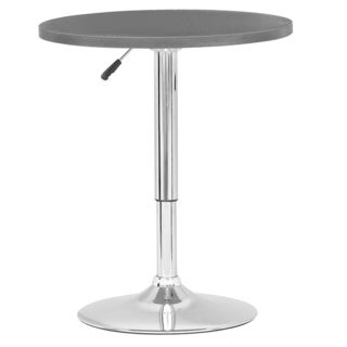 CorLiving Adjustable Height Wood Finished Round Bar Table