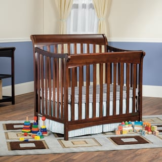 Child Craft Ashton Mini 4-in-1 Convertible Crib in Select Cherry