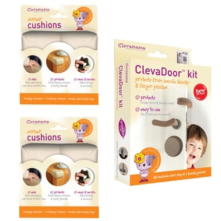 Clevamama Baby Home Safety Corner Guards and Door Cushions Set