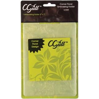 Cgull Corner Florals Embossing Folder