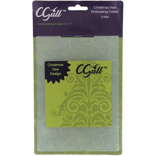 Cgull 12-0005 Christmas Tree Embossing Folder