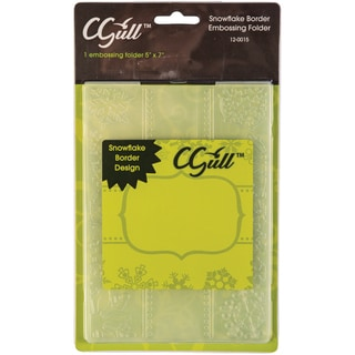 Cgull 12-0015 Snowflake Border Embossing Folder