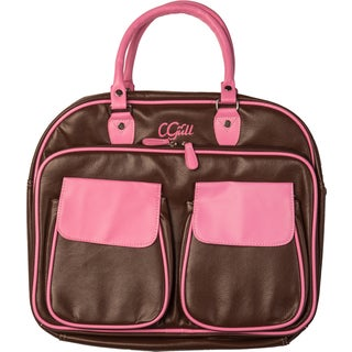 Cgull Leather Tote (Green/Black Or Pink/Brown)