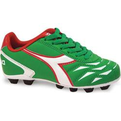 Children's Diadora Capitano MD JR Green/White/Red