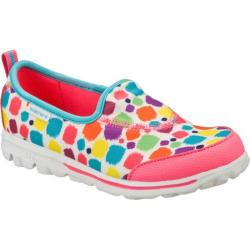 Girls' Skechers GOwalk Brush Upz White/Multi