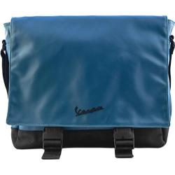 Vespa Vinyl Messenger Bag Blue