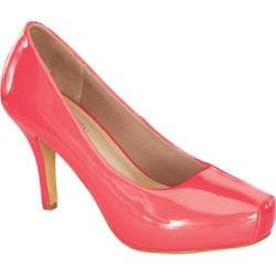 Women's Wild Diva Cyndi-92 Coral Faux Leather