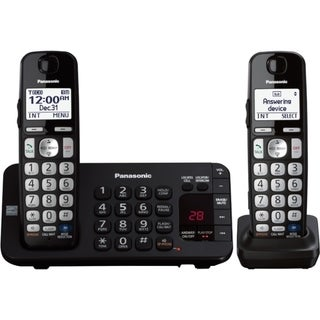 Panasonic KX-TGE242B DECT 6.0 1.90 GHz Cordless Phone - Black