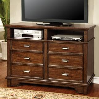 Furniture of America Glisea Brown Cherry Storage Media Chest