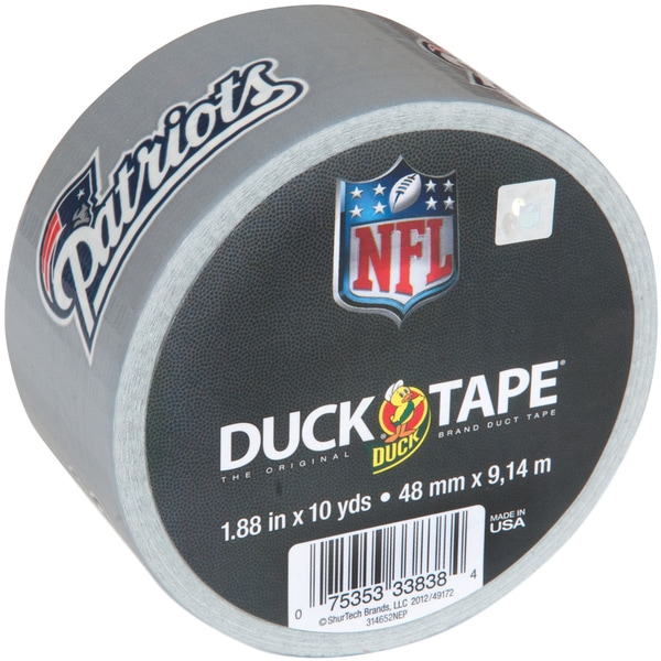 "Printed NFL Duck Tape 1.88""X10yd-New England Patriots"