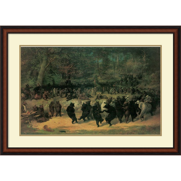 William Beard 'The Bear Dance' Framed Art Print 40 x 28-inch