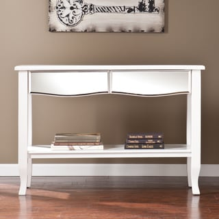 Upton Home Montmarth White Mirrored Console/ Sofa Table