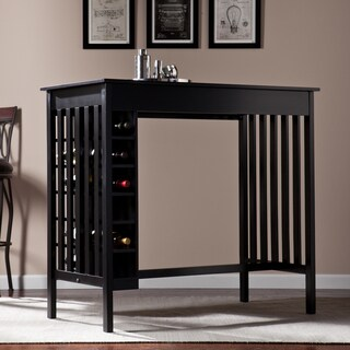 Upton Home Amelie Pub Table with Wine Storage