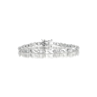 Collette Z Sterling Silver Cubic Zirconia 'X' Design Bracelet