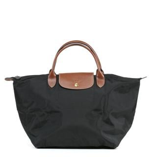 Longchamp Le Pilage Medium Handbag in Black