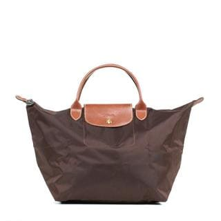 Longchamp Le Pilage Medium Handbag in Chocolate