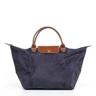 Longchamp Le Pilage Medium Handbag in Bilberry