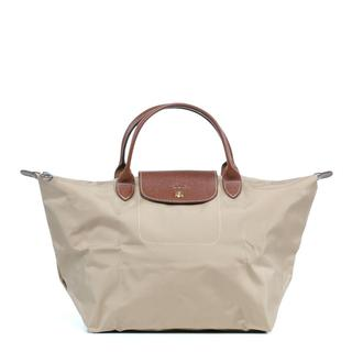 Longchamp Le Pilage Medium Handbag in Beige