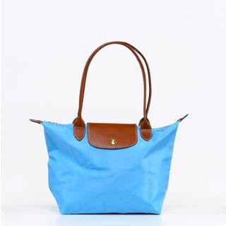 Longchamp Le Pilage Medium Shoulder Tote in Azure Blue