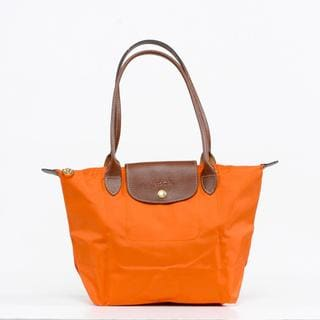 Longchamp Le Pilage Medium Shoulder Tote in Orange