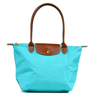 Longchamp 'Le Pilage' Medium Lagoon Blue Shoulder Tote