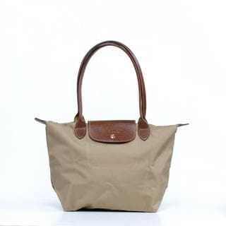 Longchamp Le Pilage Medium Shoulder Tote in Beige