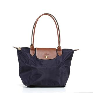 Longchamp Le Pilage Medium Shoulder Tote in Bilberry