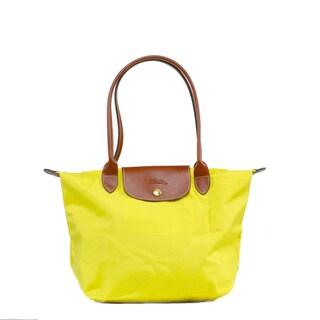 Longchamp Le Pilage Medium Shoulder Tote in Lemon