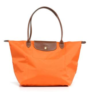 Longchamp Le Pilage Large Shoulder Tote in Orange