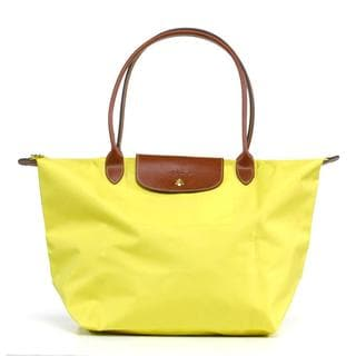 Longchamp Le Pilage Large Shoulder Tote in Lemon