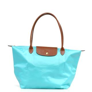 Longchamp Le Pilage Large Shoulder Tote in Lagoon