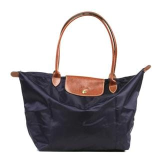Longchamp Le Pilage Large Shoulder Tote in Bilberry