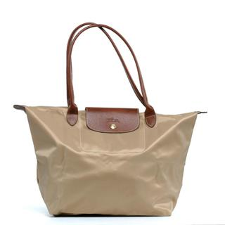 Longchamp Le Pilage Large Shoulder Tote in Beige